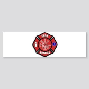 Fire Rescue Bumper Sticker